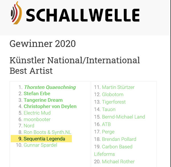 Sequentia Legenda Schallwelle Awards 2020