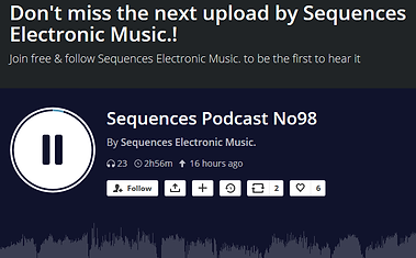 Sequences Podcast No98 By Sequences Electronic Music