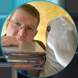 Anton Uraletz and Loxie Berlin School music fan