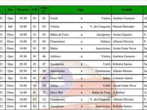 Baianão: FBF divulga tabela do Campeonato Baiano 2021