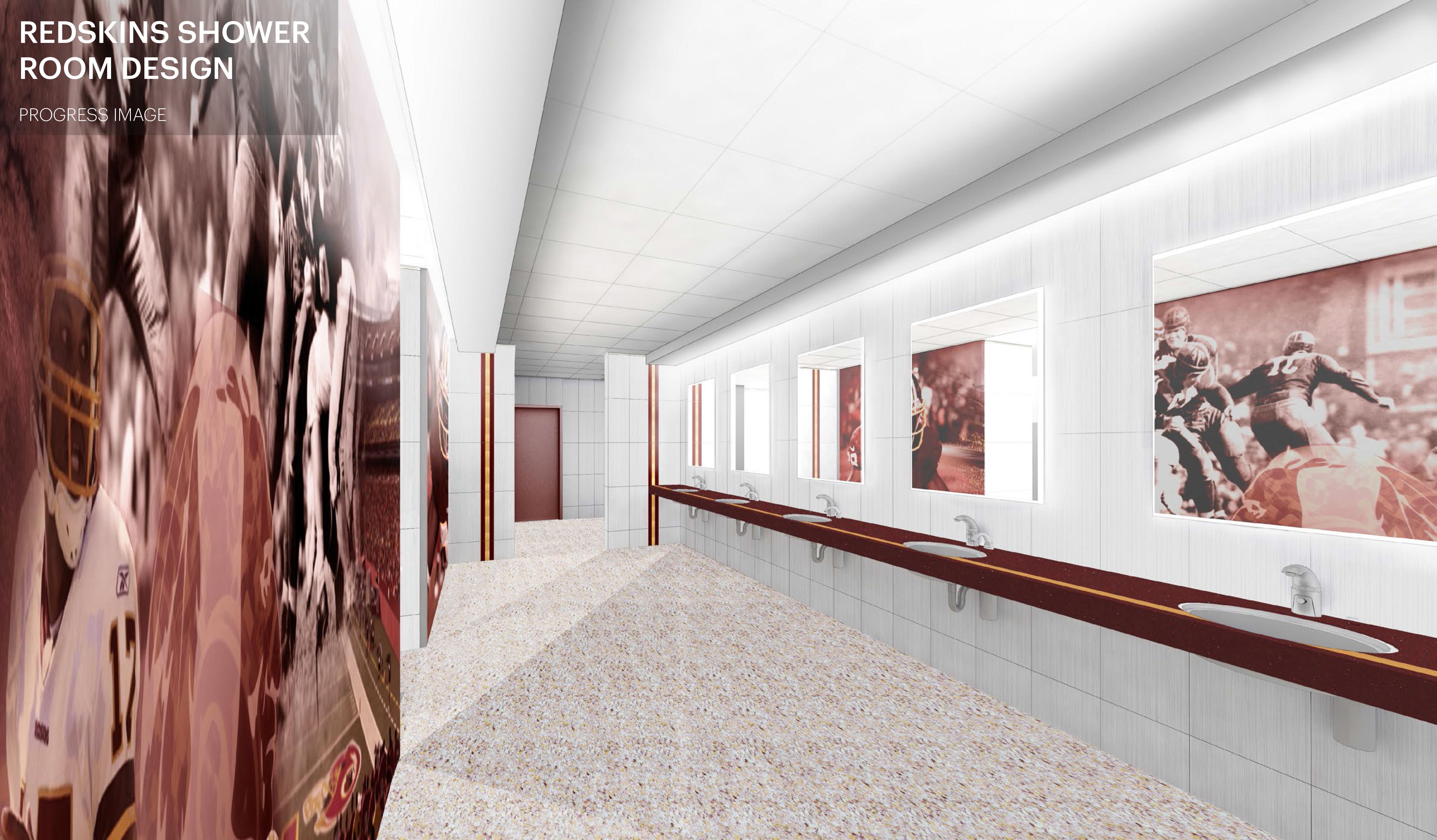 Redskins Shower Room
