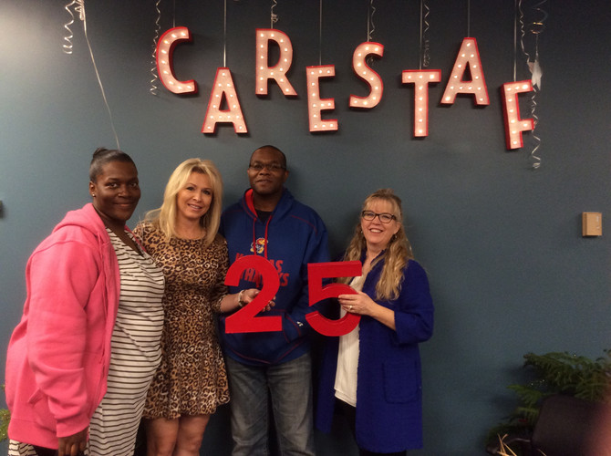 CareStaf Thanks Our Field Staff for 25 Years!
