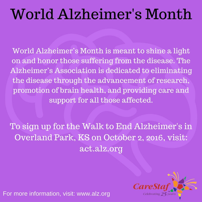September: World Alzheimer's Month