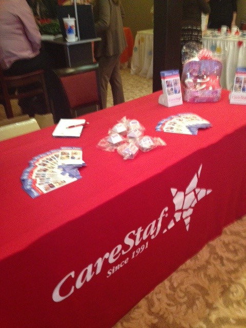 CareStaf table at the conference