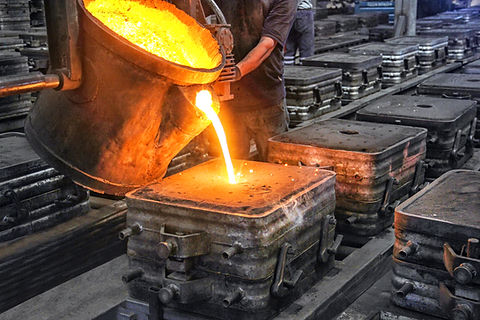 Casting and foundry. Casting is the proc