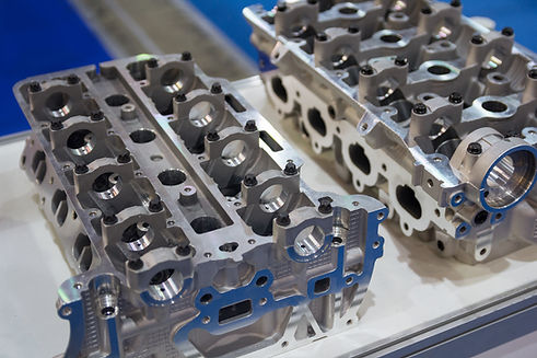 Die cast metal automotive parts on the b