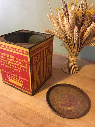 Boîte métallique Bouillon Kub (modèle moyen)