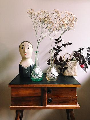 Lot de 2 vases dans le goût de Mary Gregory