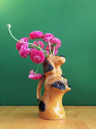 Carafe/vase en forme de chien