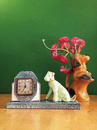 """Pendule Art Déco """"chien"""""""