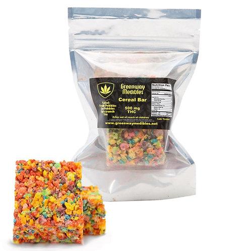 Greenway Medibles Fruity Krispy Cereal Bar 500mg THC weedpandashop.com