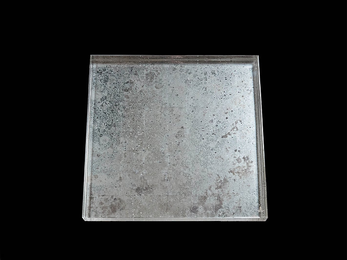 Mottled 12K Finish Cast Glass Top