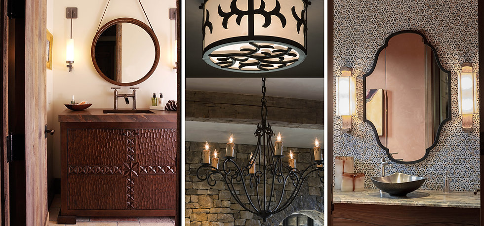 Custome Handmade Mirrors and Lighting