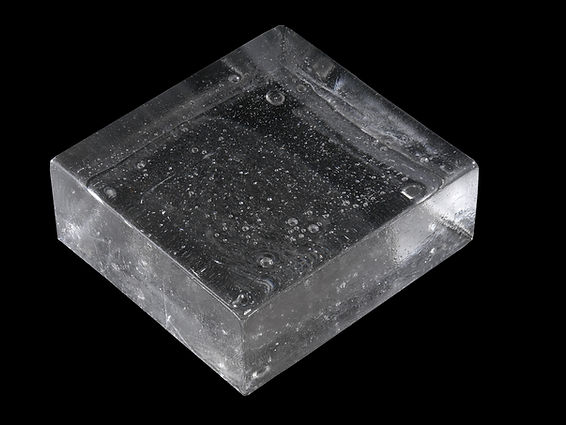 Stephen Cavallo Item #1124 CAST GLASS PLINTH BLOCK