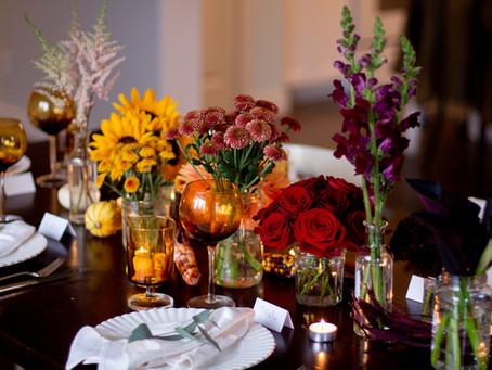 Our Thanksgiving Dinner Flower & Food Inspirations!