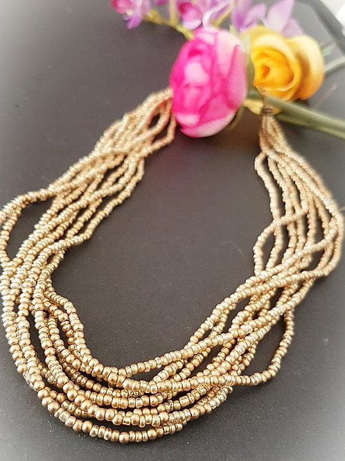 Handmade multi - strand handmade necklace