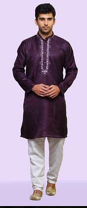 Dark purple kurta set