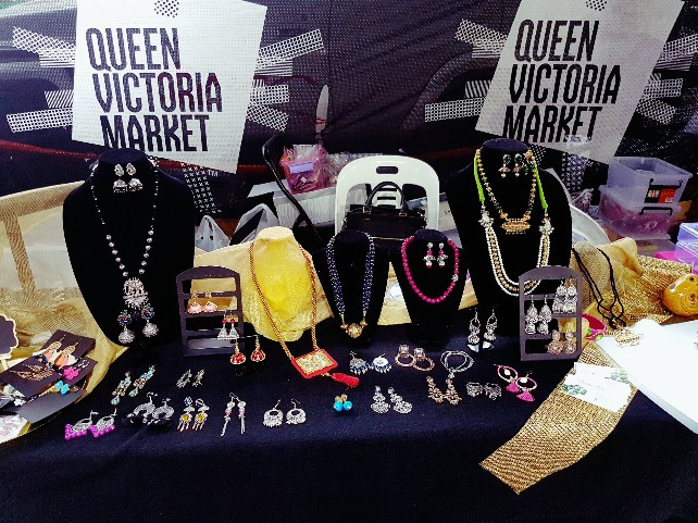 Pop up stall at Indian cultural fest at Queen Victoria Market