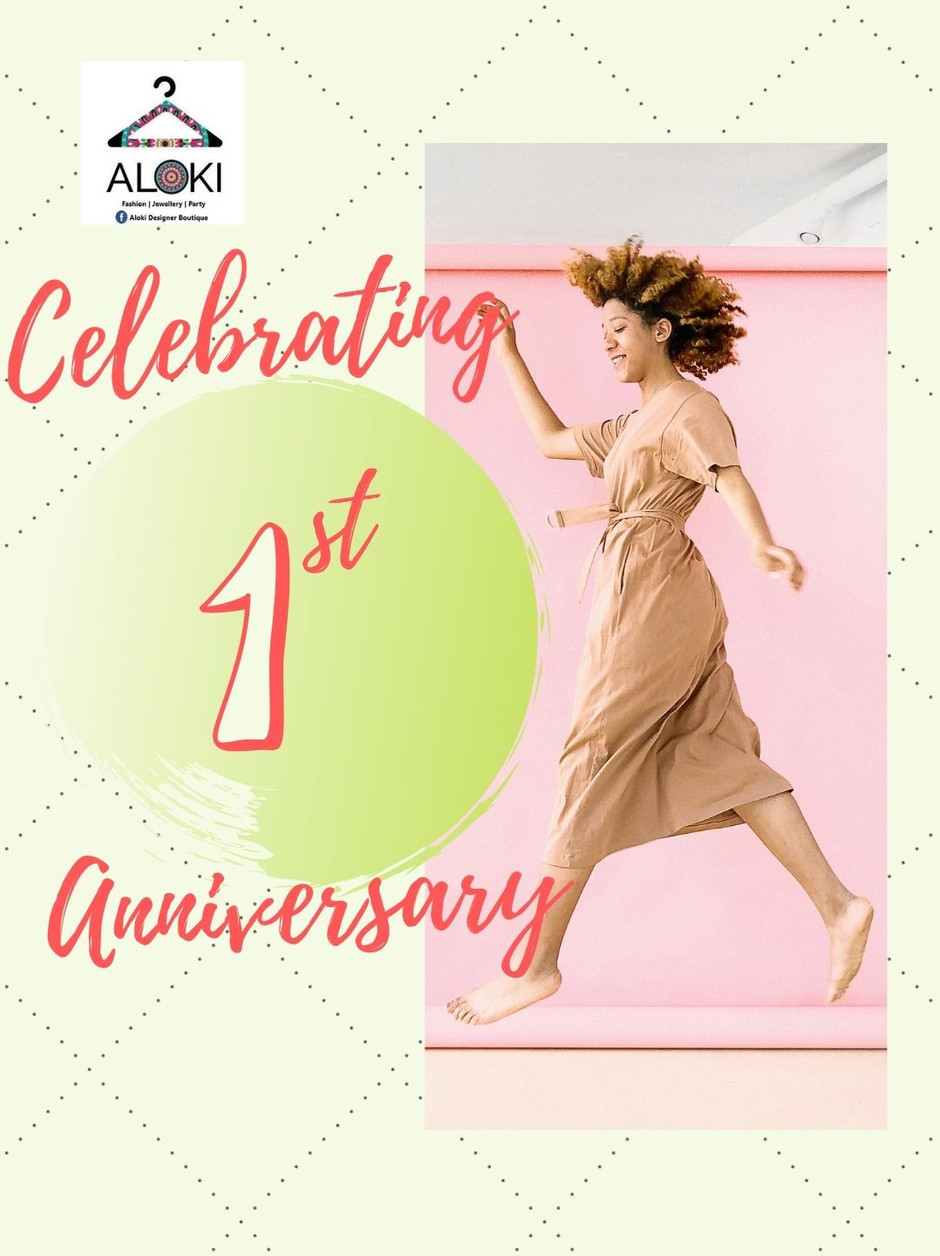 Our first Anniversary in fashion!