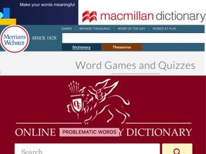 Anglicko-anglické slovníky