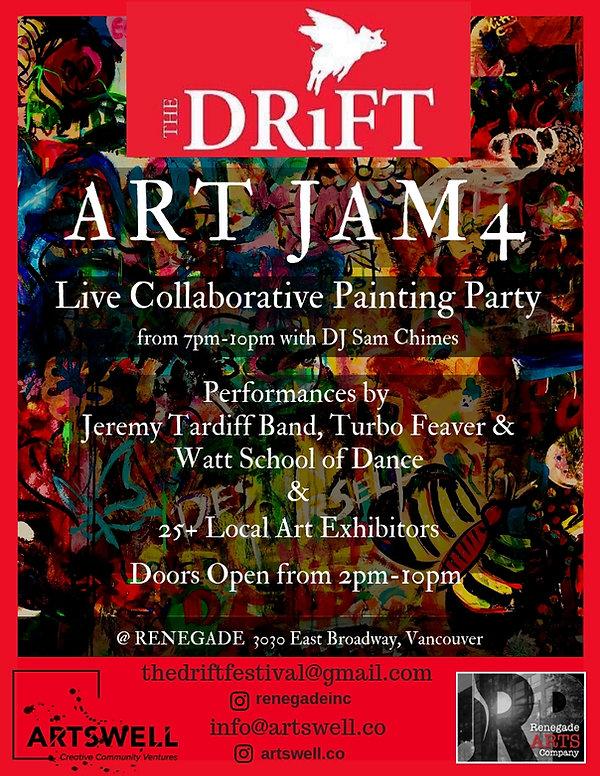 Version 2 Drift Art Jam4 Event Poster (1