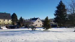 Domek ze zahrady v zimě