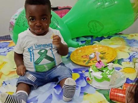 1st Liversary of baby Mustapha's  transplant surgery.