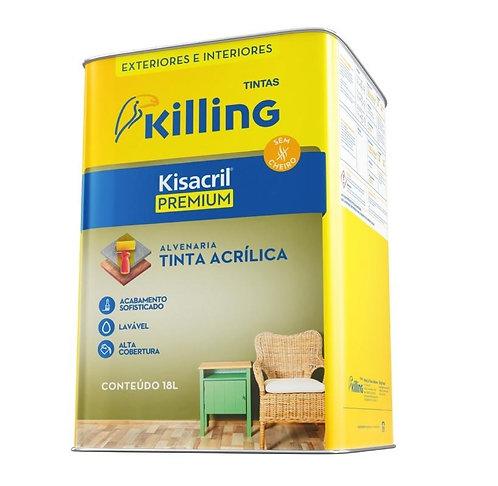 Tinta Kisacril Acrílico Semibrilho Premium Branco 18L