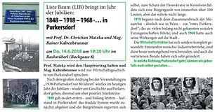 Purkersdorf 1848 1918 1968
