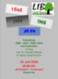 Purkersdorf Liste Baum & GrueneVeranstaltung Jubiläum 1848 bis 2018