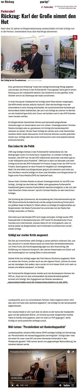 Pressekonferenz Karl Schlögl
