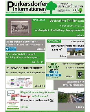 Purkersdorfe Informationen, Immobilien, liste baum, grüne