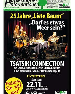 25 Jahre Liste Baum Festschrift, zeitung, purkersdorf