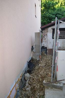 Purkersdorf Regenwasserkanal nach Bau am Nachbarsgrudstück Liste Baum