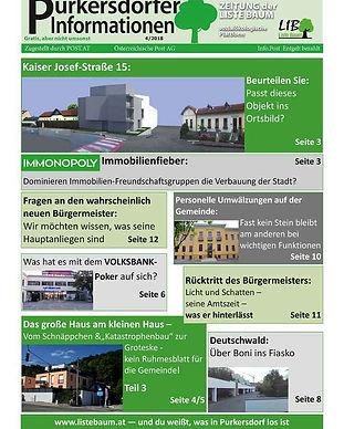 purkersdorfer informationen, rückstritt schlögl karl, volksbank, immobilienfieber