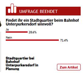NÖN Umfrage Unterpurkersdorf