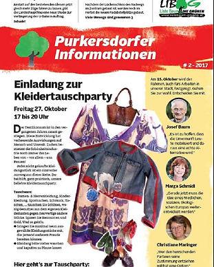 purkersdorf, kleidertauschparty, josef baum, liste baum