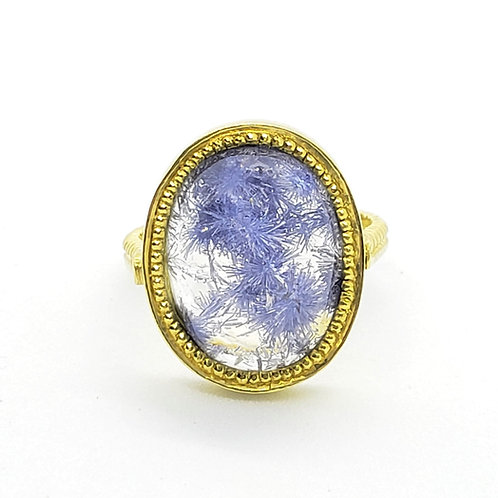 Fireworks Dumortierite Ring