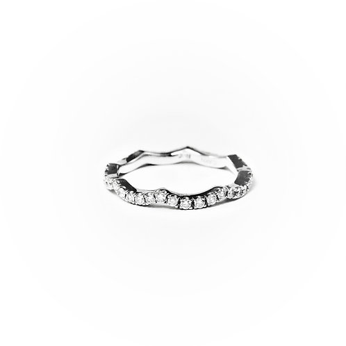 Wave diamond eternity companion band