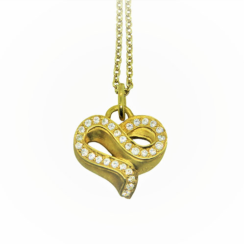 Infinity diamond heart necklace