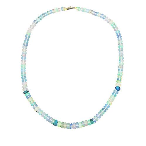 Opal bead Choker