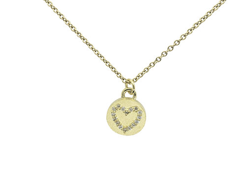 Magic diamond heart necklace