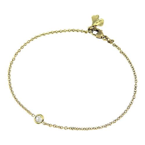 Petite Baby Ginkgo drop with Diamond Bracelet