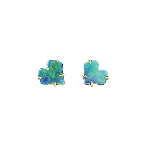 Baby Ginkgo Opal stud earrings