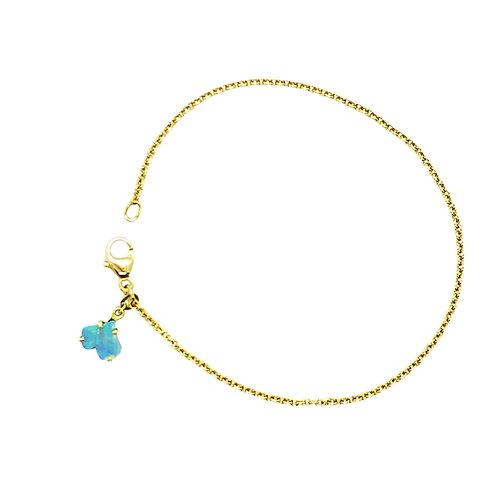 Baby Ginkgo Opal drop off bracelet