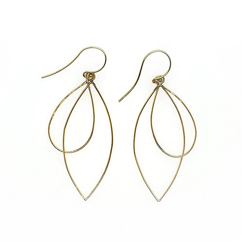 Double geo dangle earrings