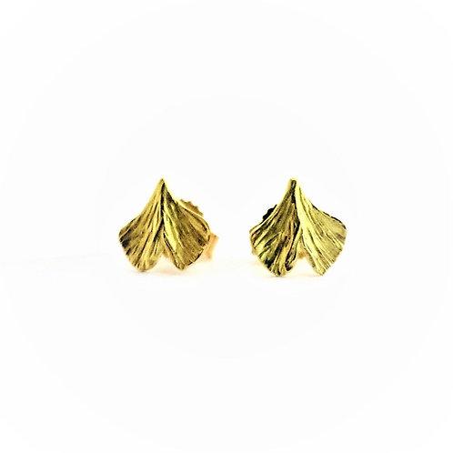 Baby Ginkgo stud earrings