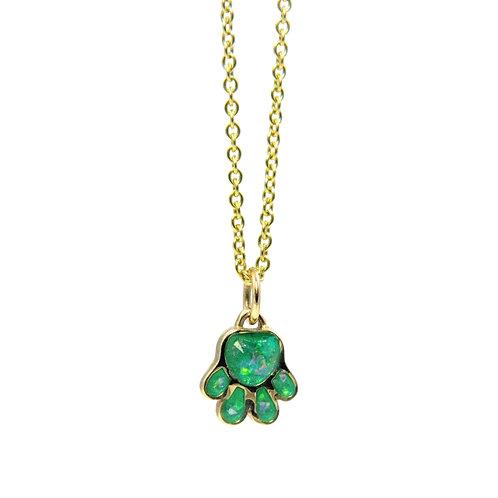 Enameled Paw print necklace