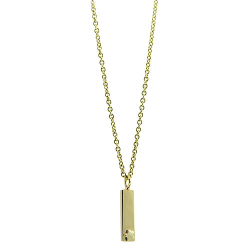 Lucky star vertical bar necklace
