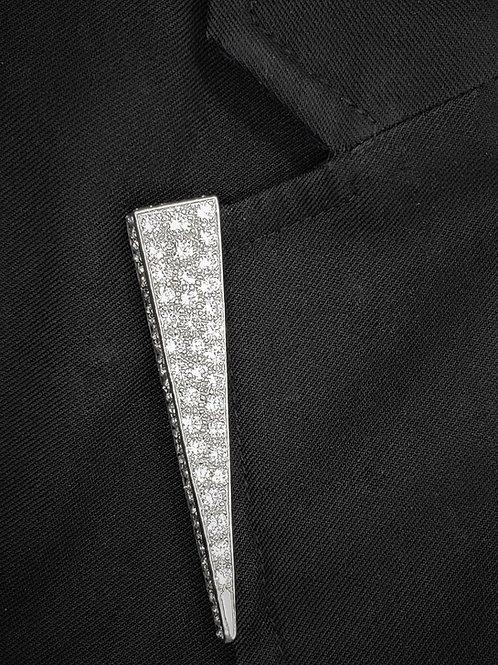 6 CTTW diamond Lapel Pin for men or women